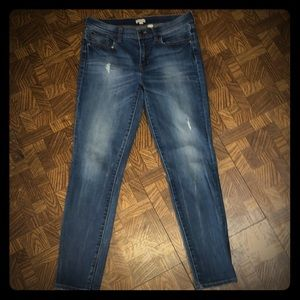 J.Crew Factory lightly distressed skinny jeans